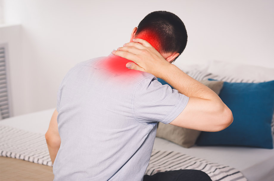 What are the symptoms of cervical pain?