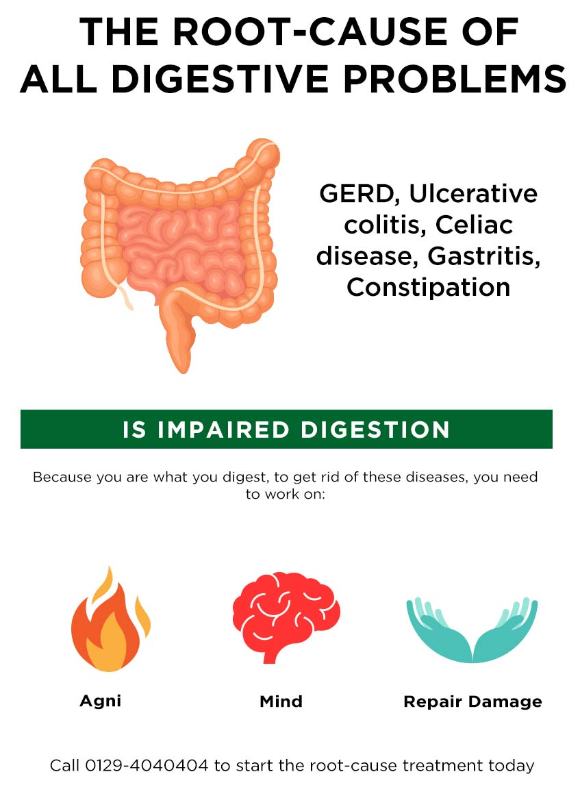How Ayurveda treats digestive problems?