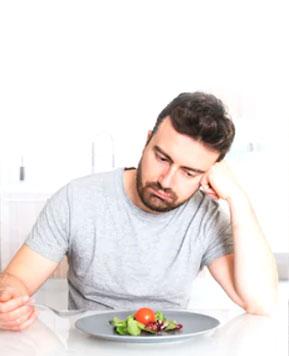 Sometimes lack of appetite